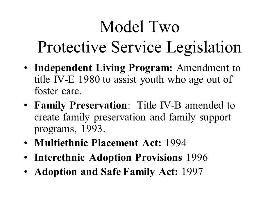 Model Two Protective Service Legislation