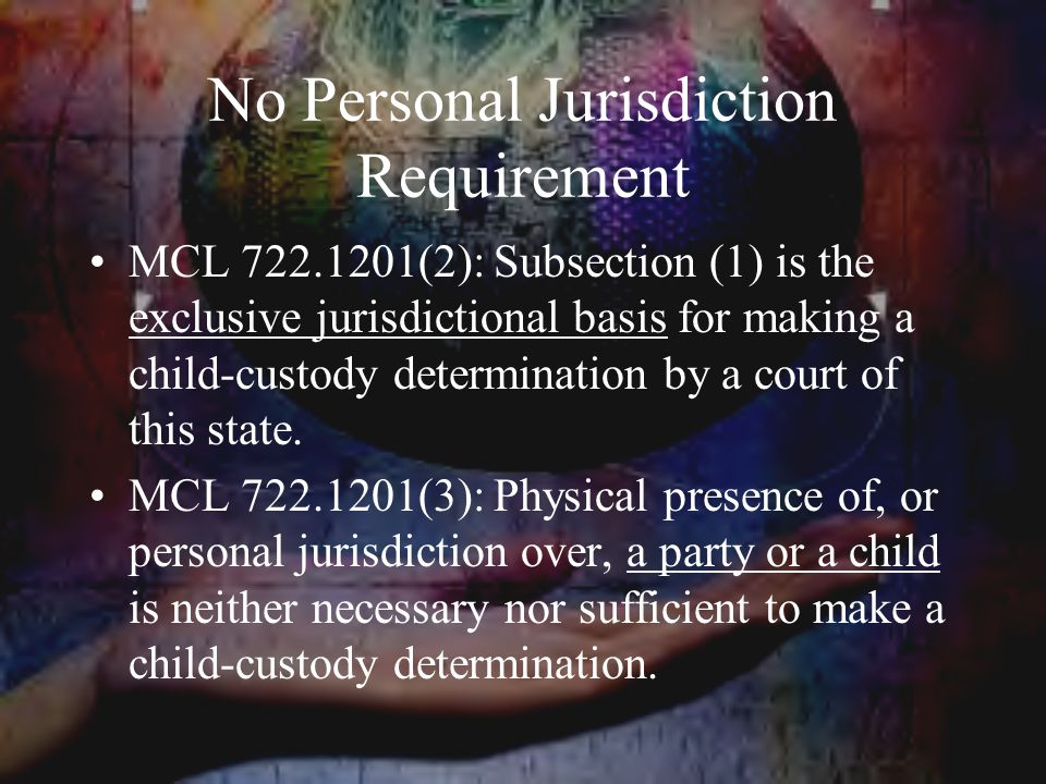 No Personal Jurisdiction Requirement