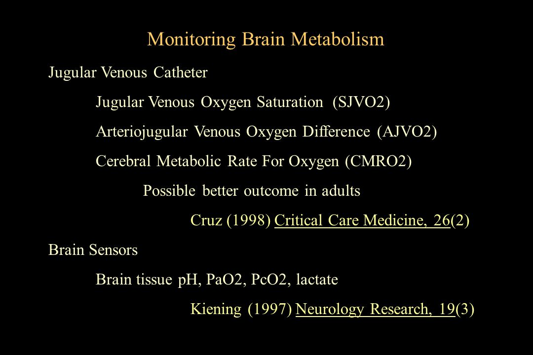 Monitoring Brain Metabolism