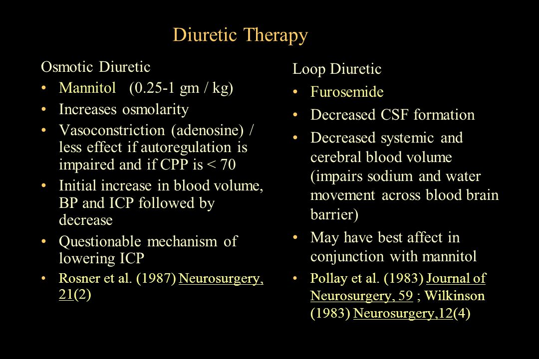 Diuretic Therapy Osmotic Diuretic Mannitol (0.25-1 gm / kg)