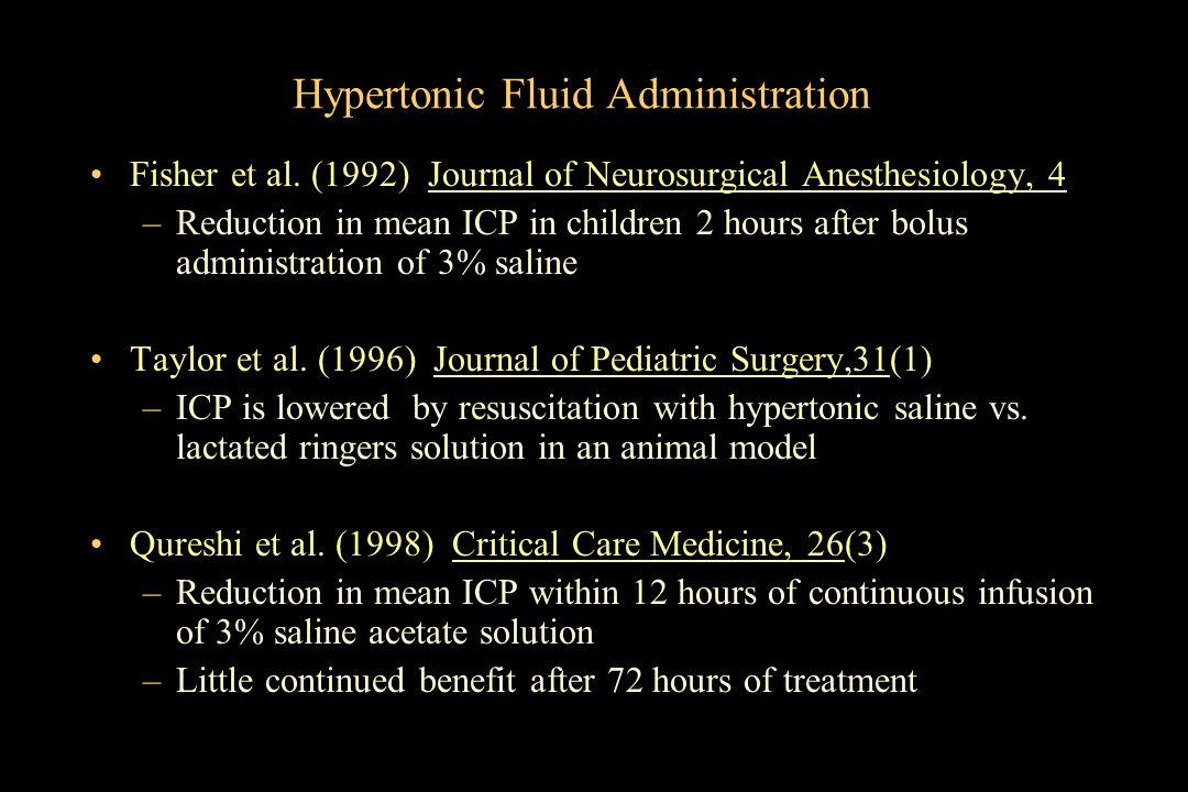 Hypertonic Fluid Administration
