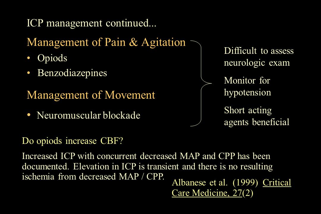 Management of Pain & Agitation