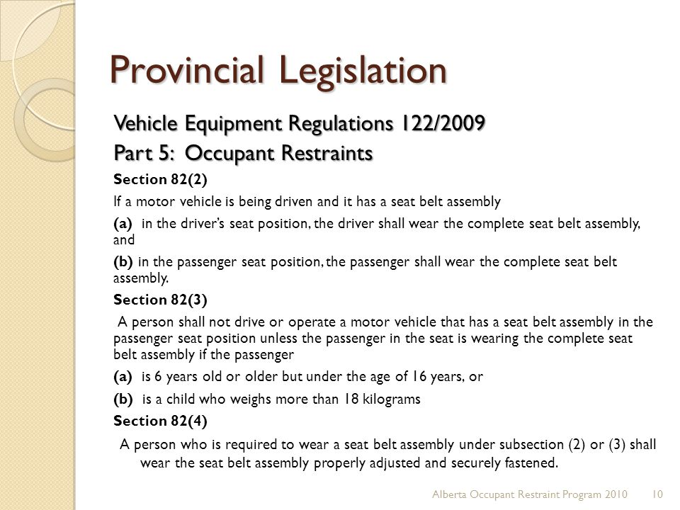 Provincial Legislation