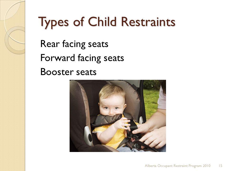 Types of Child Restraints