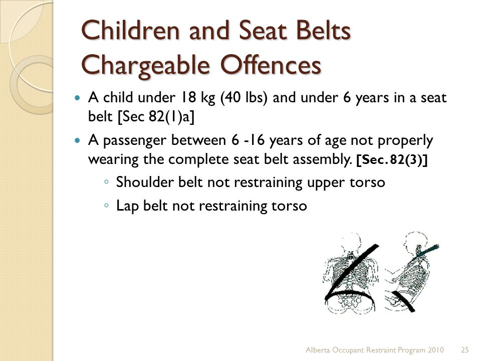 Children and Seat Belts Chargeable Offences