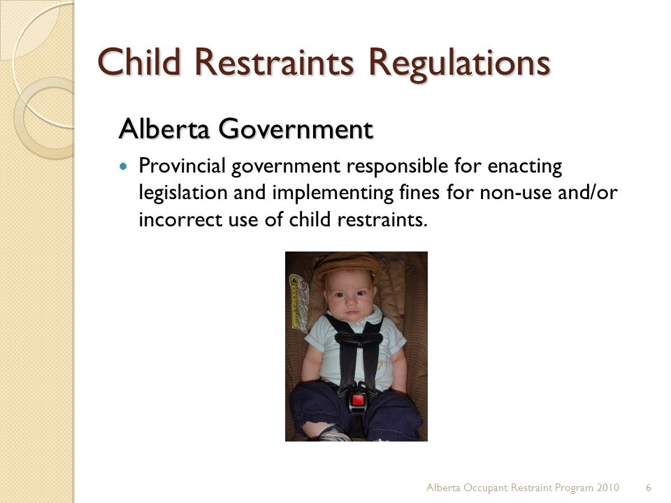 Child Restraints Regulations