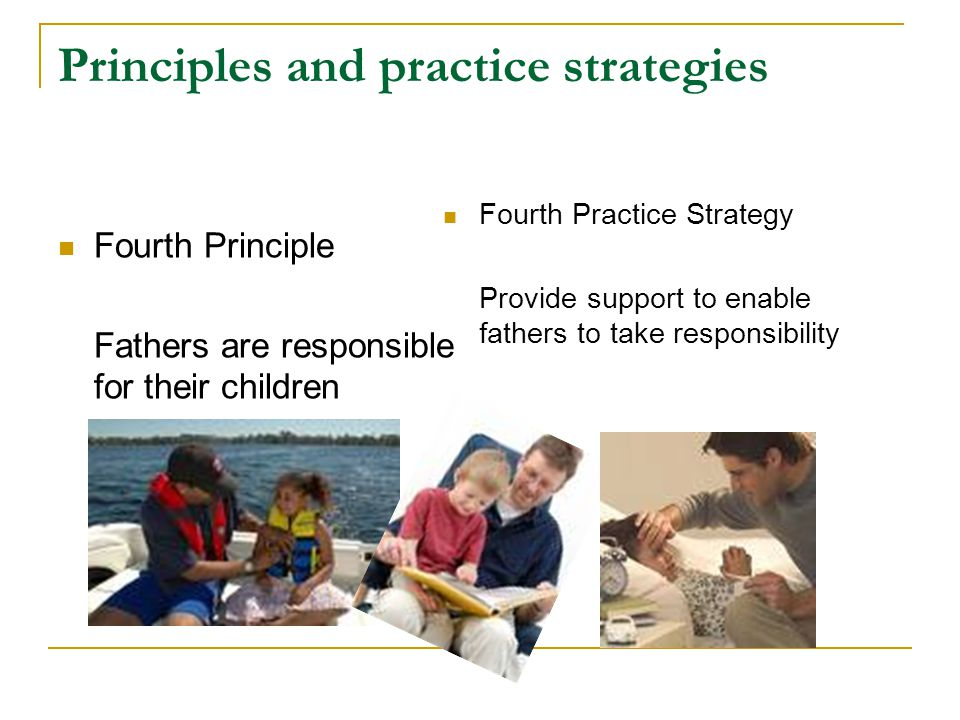 Principles and practice strategies