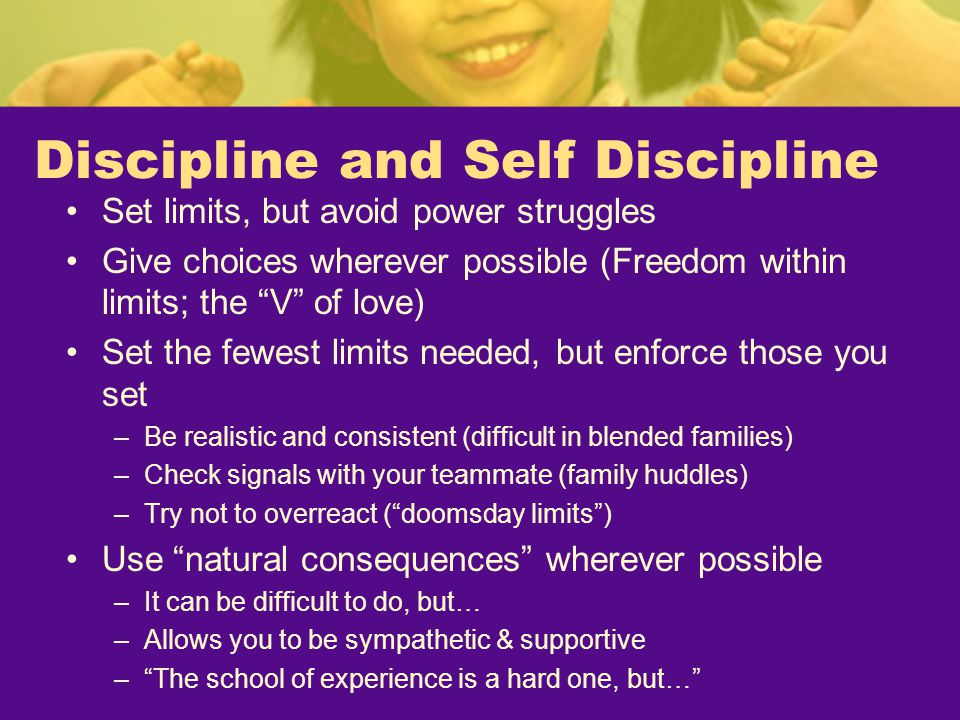 Discipline and Self Discipline