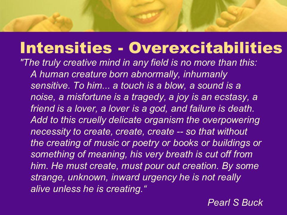 Intensities - Overexcitabilities