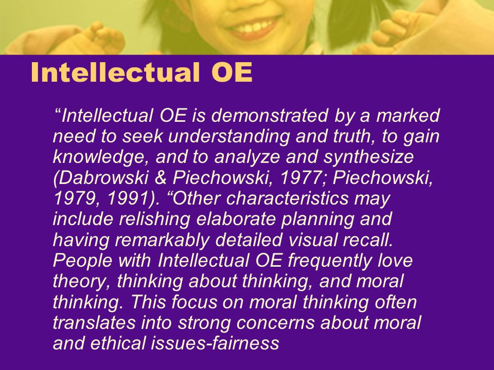 Intellectual OE