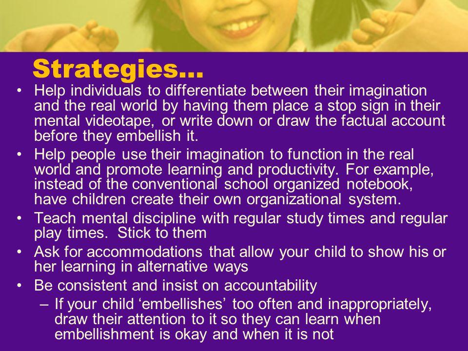Strategies…