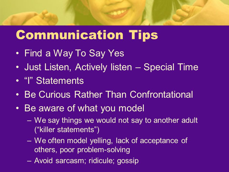 Communication Tips Find a Way To Say Yes