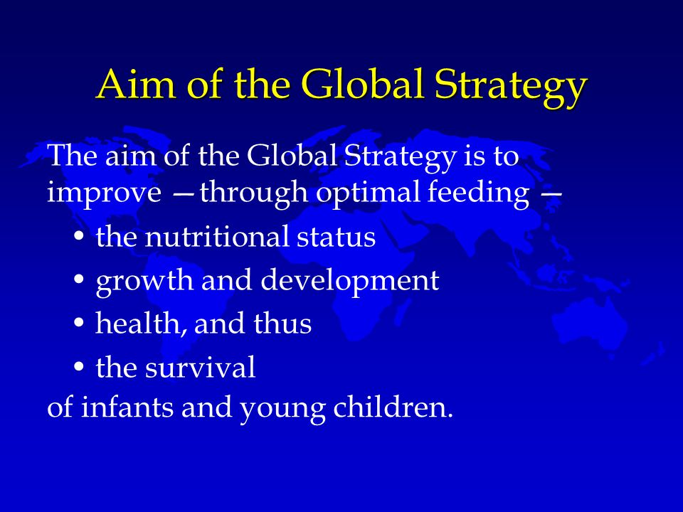 Aim of the Global Strategy