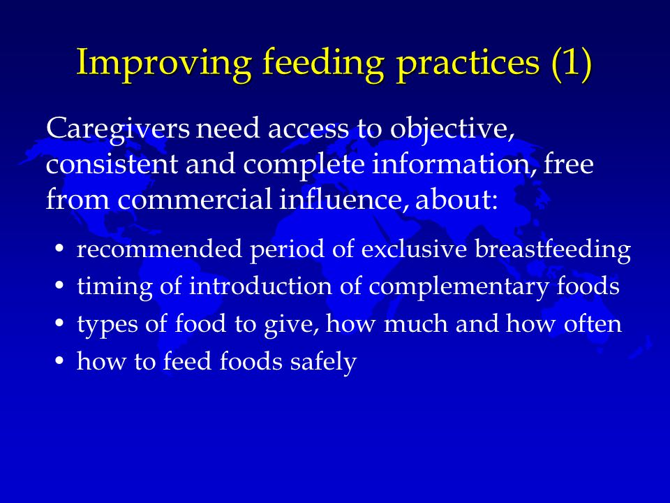 Improving feeding practices (1)