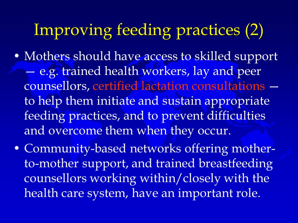 Improving feeding practices (2)