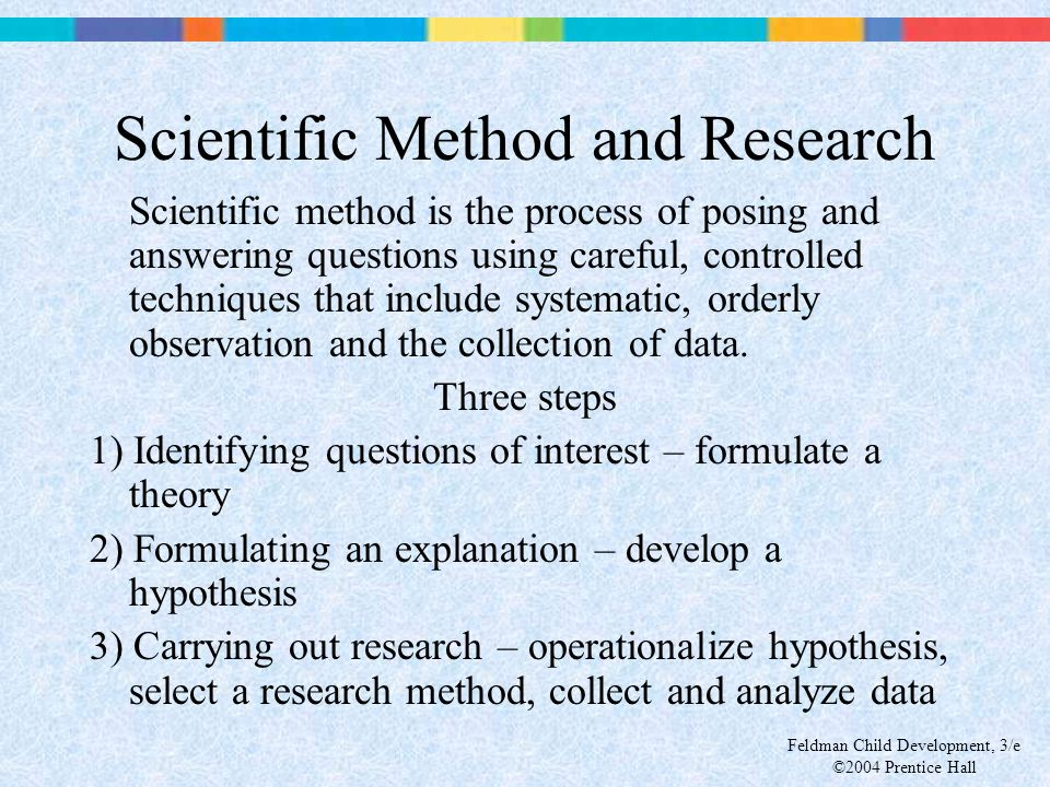 Scientific Method and Research