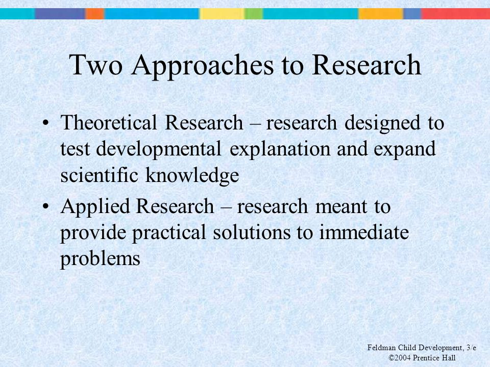 Two Approaches to Research