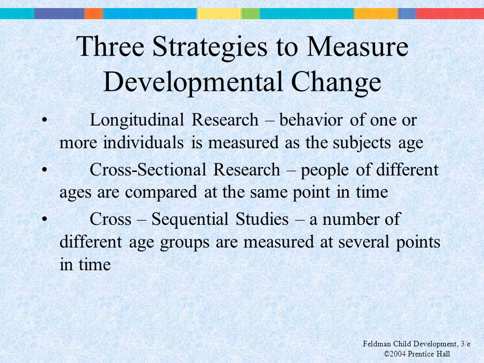 Three Strategies to Measure Developmental Change