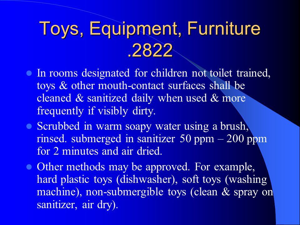 Toys, Equipment, Furniture .2822