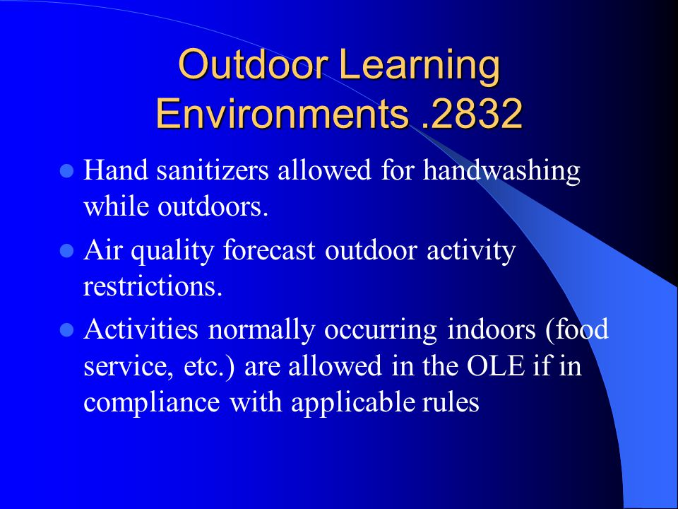 Outdoor Learning Environments .2832