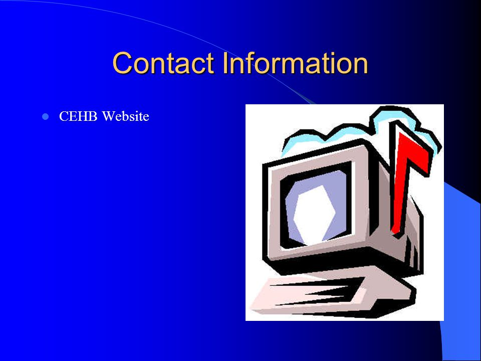 Contact Information CEHB Website