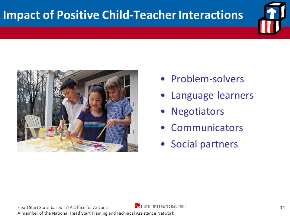 Impact of Positive Child-Teacher Interactions