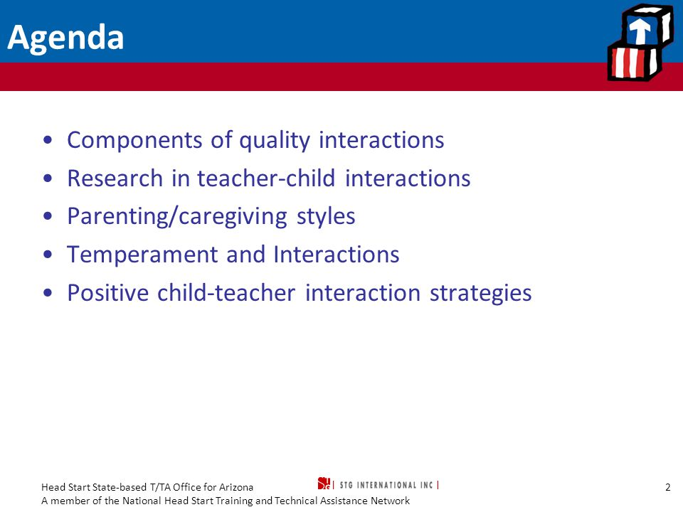 Agenda Components of quality interactions
