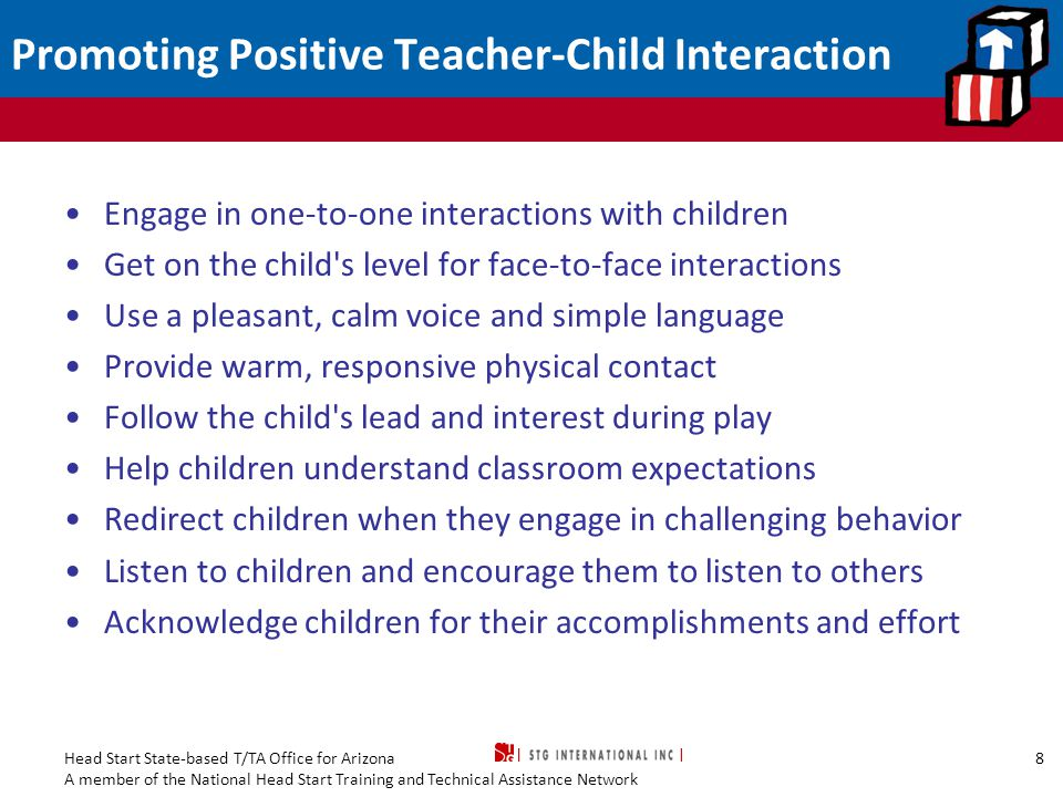 Promoting Positive Teacher-Child Interaction