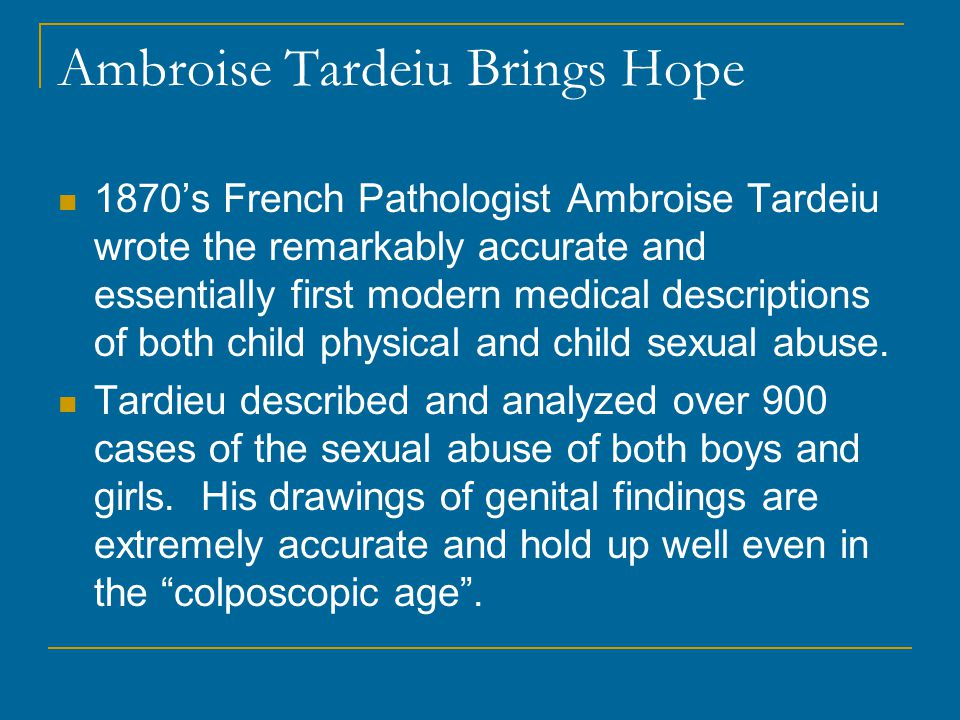 Ambroise Tardeiu Brings Hope