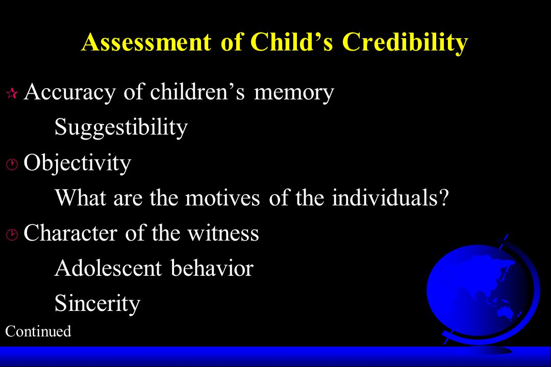 Assessment of Child's Credibility