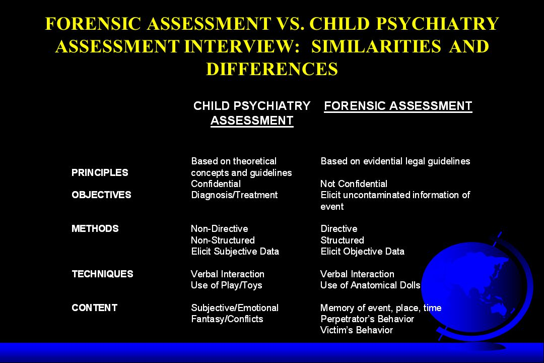 FORENSIC ASSESSMENT VS