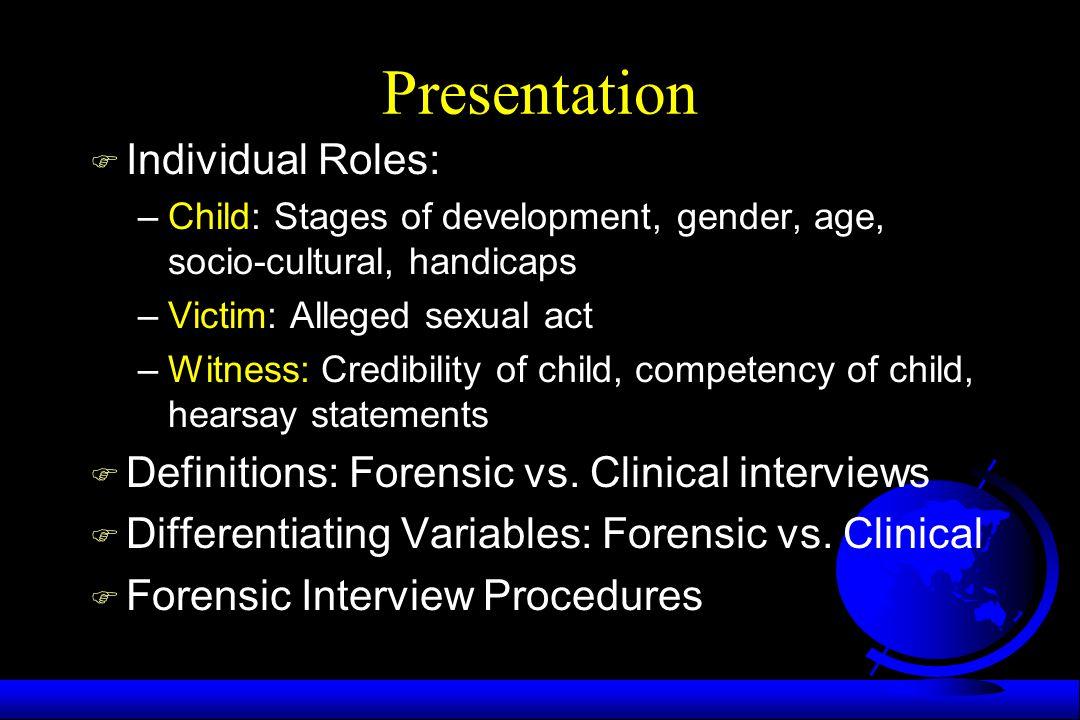 Presentation Individual Roles: