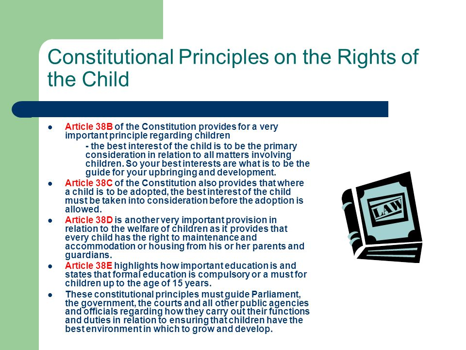 Constitutional Principles on the Rights of the Child