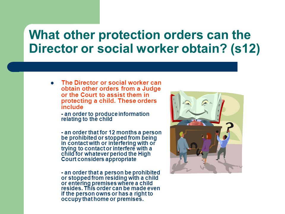 What other protection orders can the Director or social worker obtain