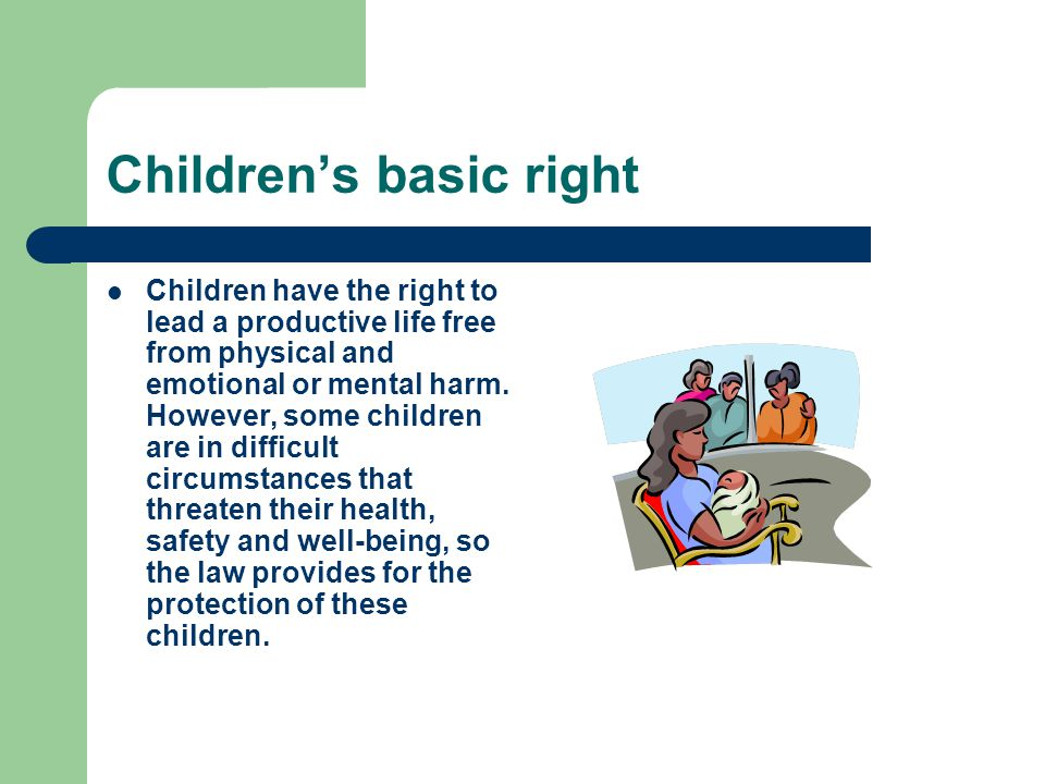 Children's basic right