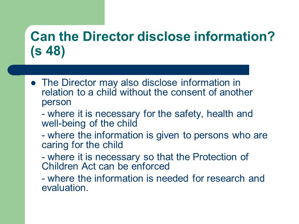 Can the Director disclose information (s 48)