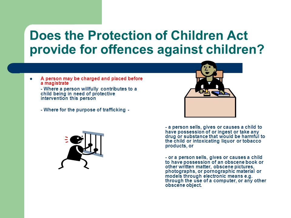 Does the Protection of Children Act provide for offences against children