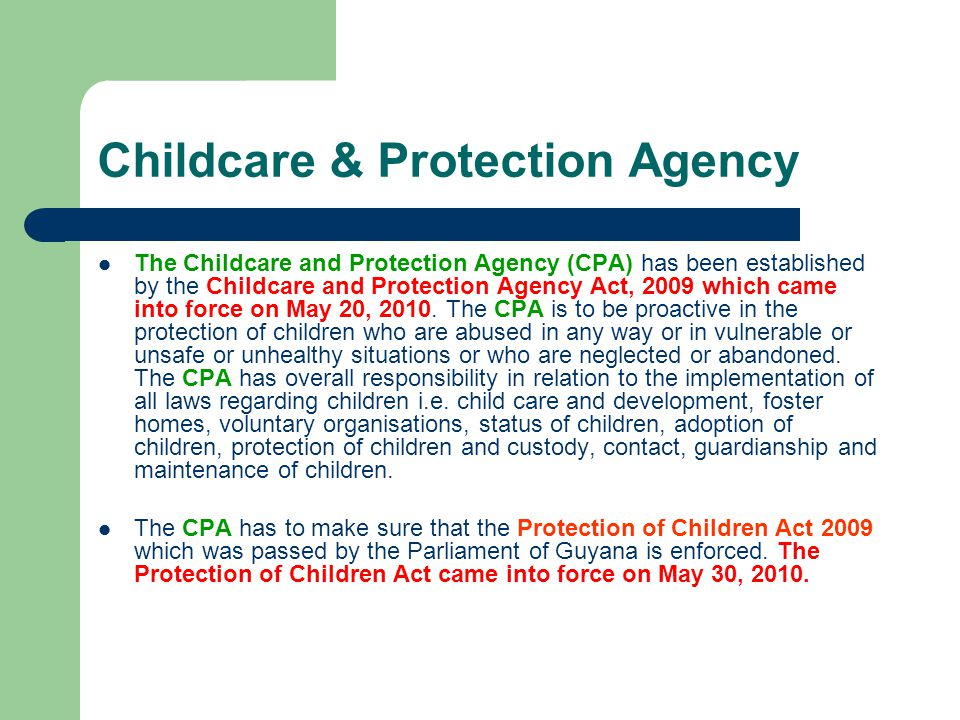 Childcare & Protection Agency