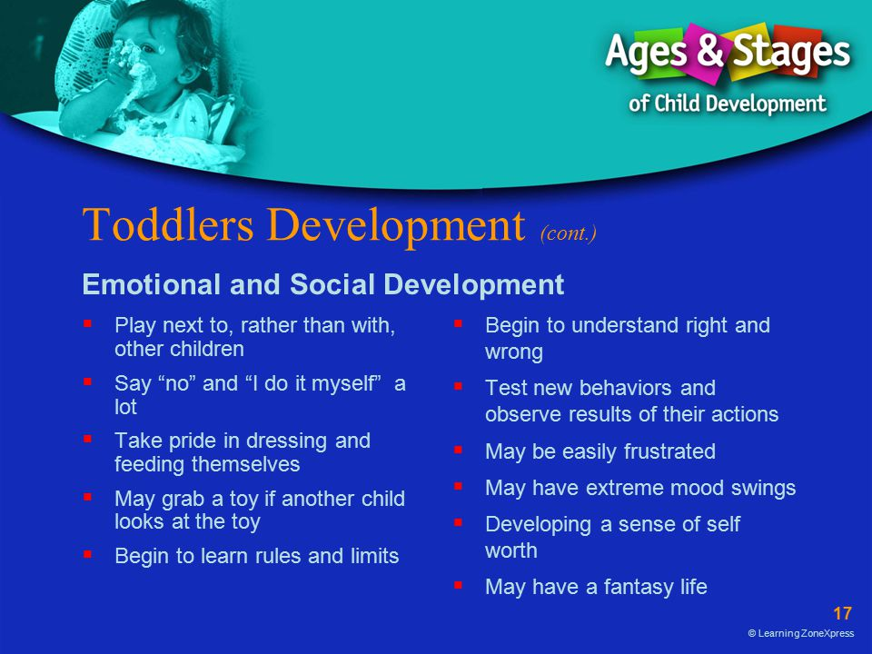 Toddlers Development (cont.)