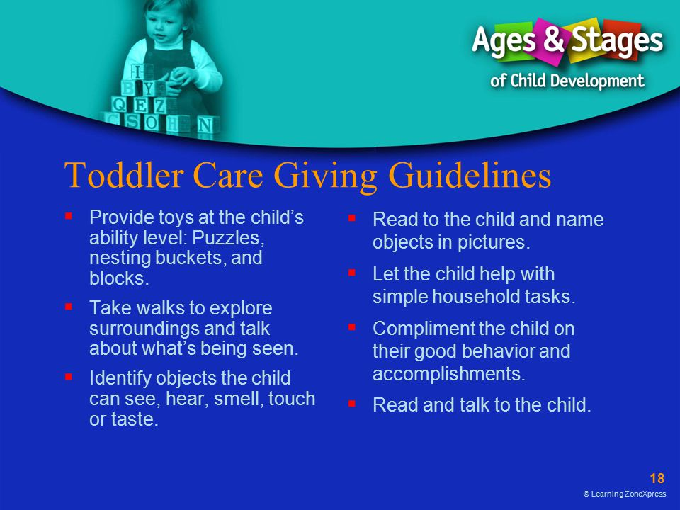 Toddler Care Giving Guidelines