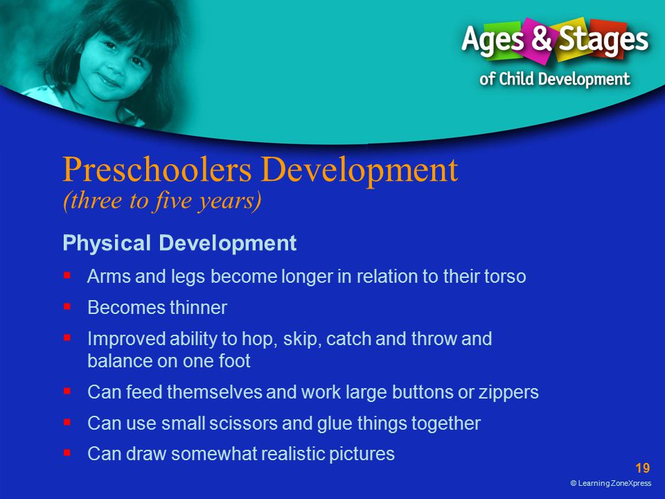 Preschoolers Development (three to five years)