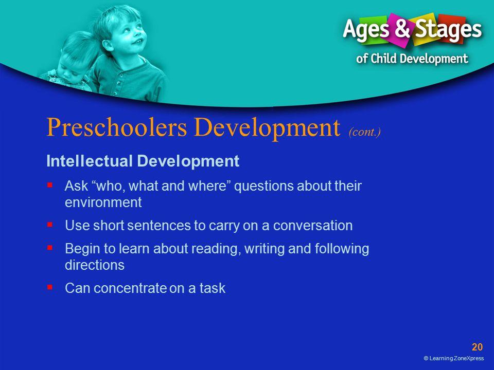 Preschoolers Development (cont.)