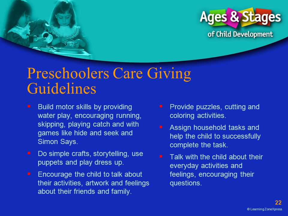 Preschoolers Care Giving Guidelines