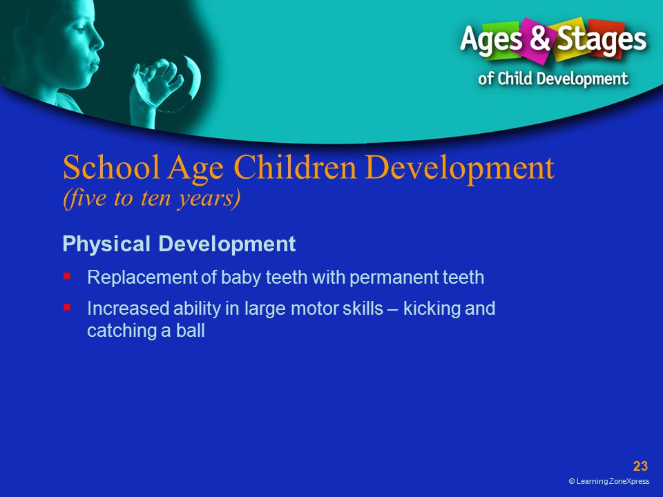 School Age Children Development (five to ten years)