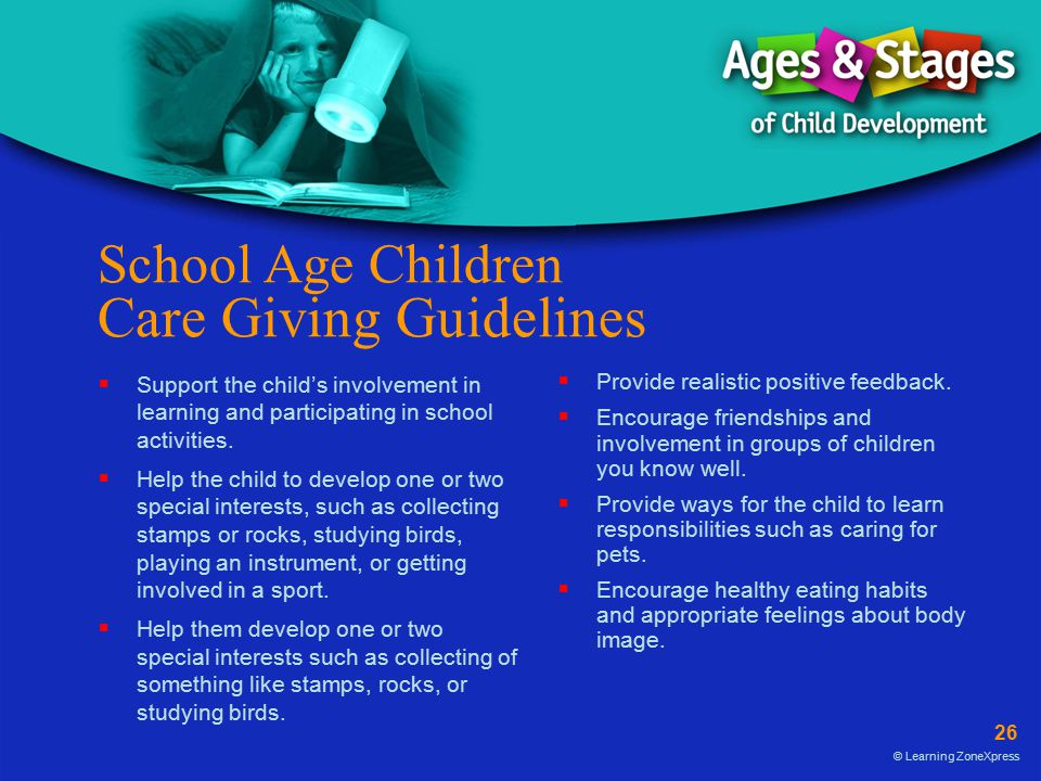 School Age Children Care Giving Guidelines