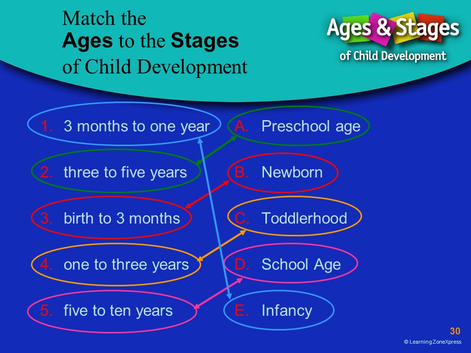 Match the Ages to the Stages of Child Development