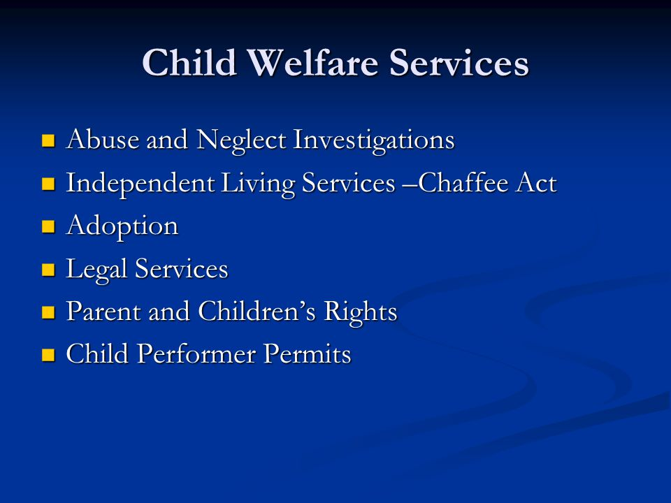 Child Welfare Services