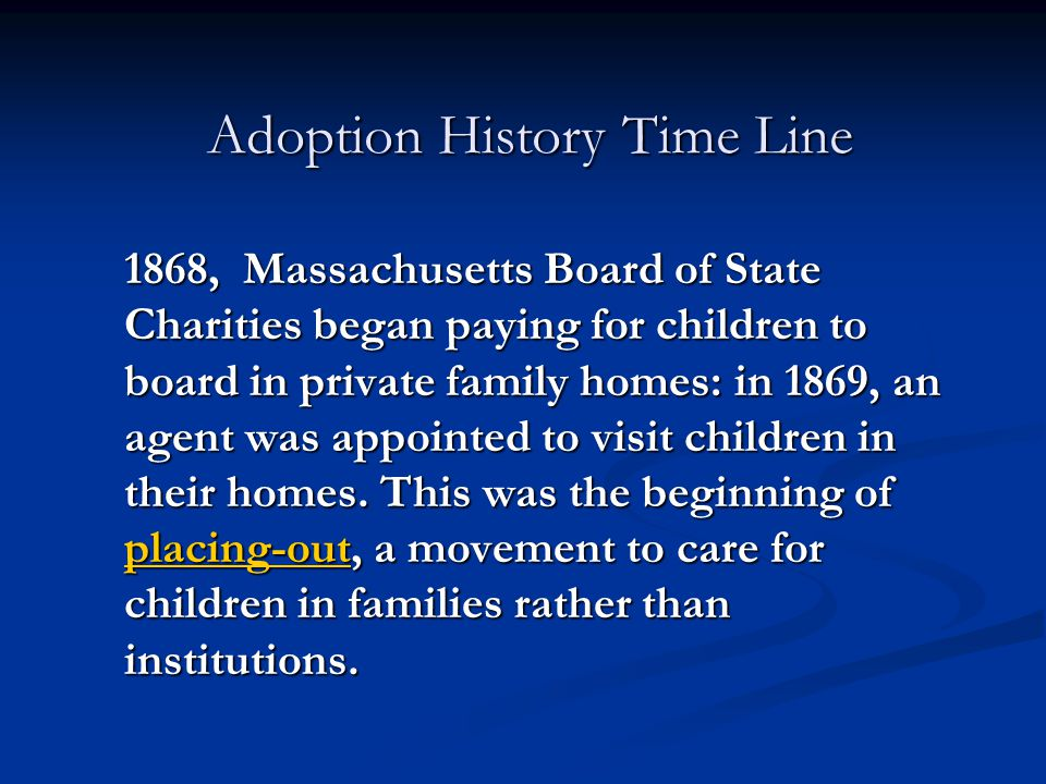 Adoption History Time Line