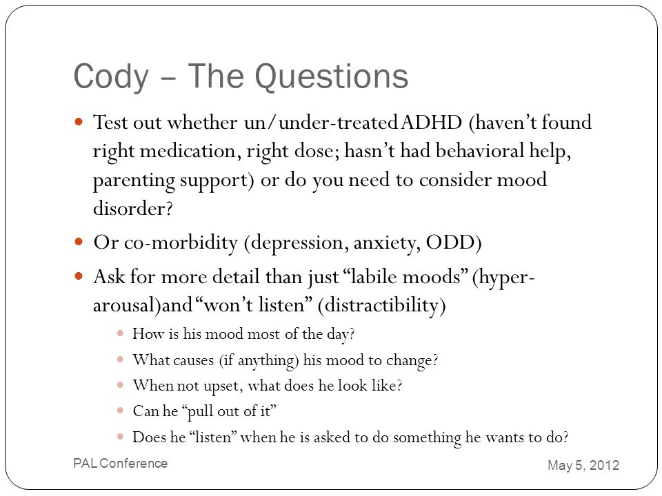Cody – The Questions