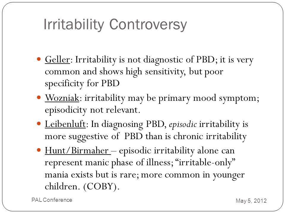 Irritability Controversy
